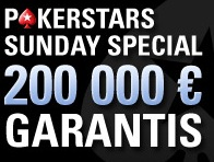 Dotation du Pokerstars Sunday Special double