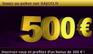 Bonus de bienvenue de Sajoo Poker.fr