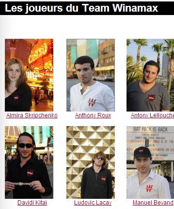 Anthony Roux sur la page Winamax Team