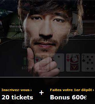Nouveau bonus poker de 600€ sur Bwin.fr