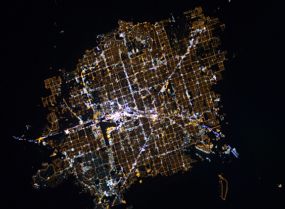 Las Vegas vue de l'Espace