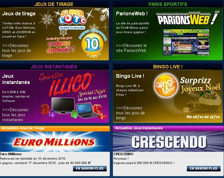 La Francaise des jeux et sa gamme de jeux en ligne