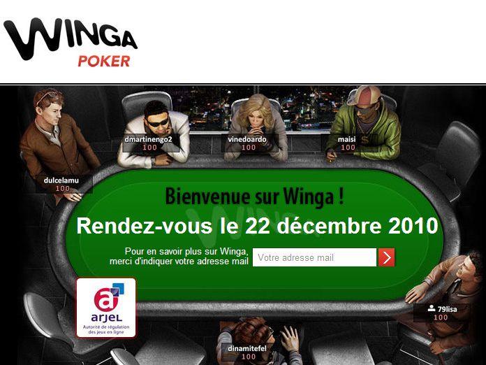 Winga.fr nouvelle salle de poker legale en France