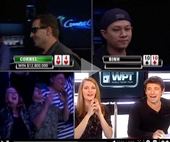 Tournois de poker sur Canal plus avec Bruel