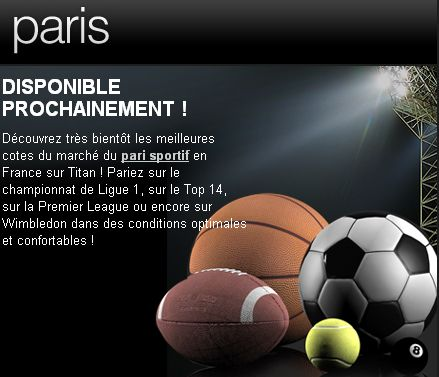 Titanbet est legal en France en pari sportif