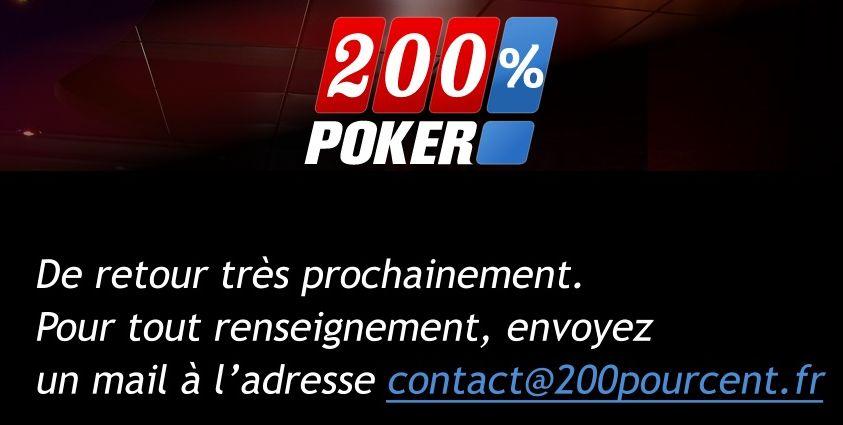 Page d'accueil de 200%poker