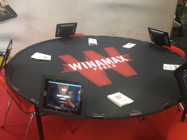 Table Winamax avec Ipad