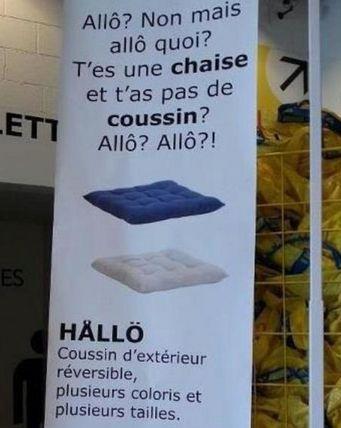 Coussin Hallo de Ikea