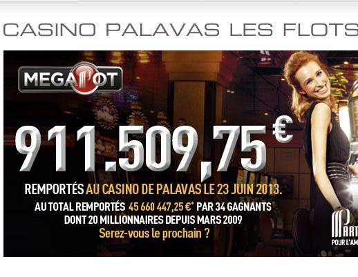 Partouche Megapot au casino de Palavas les Flots