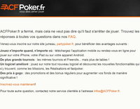 ACF Poker se retire du marché du poker légal en France
