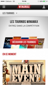 Winamax Poker sur Mobile
