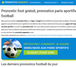 Pronostics Gagnants, le site de paris sportifs legal en France