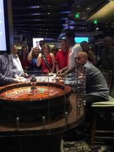 Leslie Sategna a la roulette du Casino Aria de Las Vegas