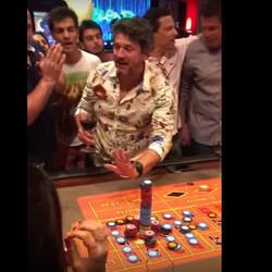 Joueur de roulette du Casino Conrad en Uruguay
