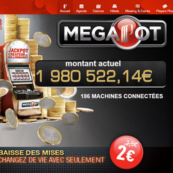 Jackpot progressif Partouche Megapot tombe au casino de la Tremblade