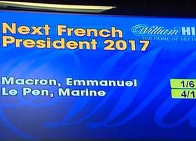 Les elections presidentielles en France passionnent les bookmalers en ligne