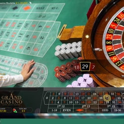 Roulette en direct live de casinos terrestres