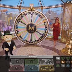 Monopoly Live est un jeu de monopoly en ligne d'Evolution Gaming