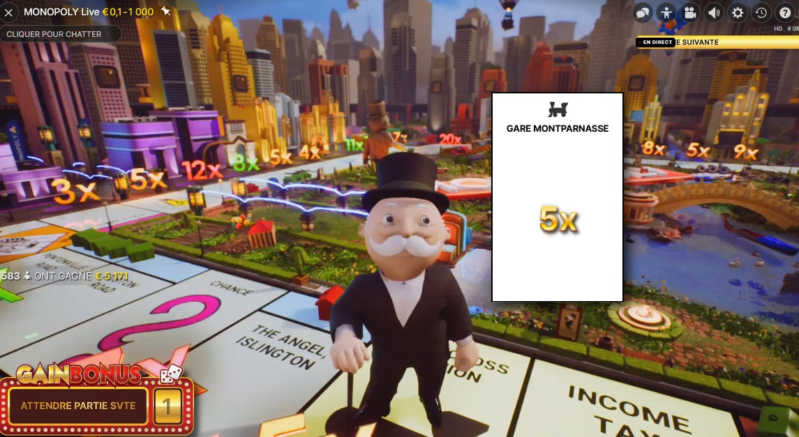 Monopoly live est la version virtuelle du Monopoly du groupe Hasbro